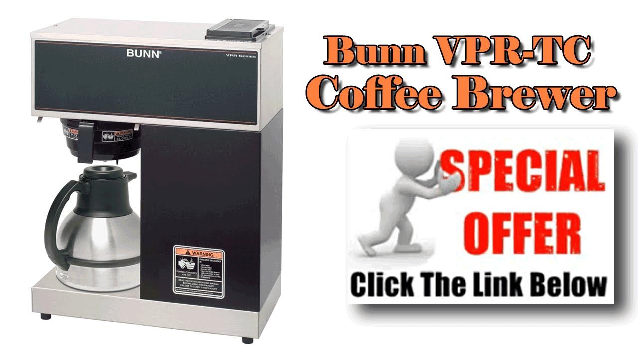 bunn commercial coffee maker bunn vpr tc coffee brewer - Bunn Commercial Coffee Maker