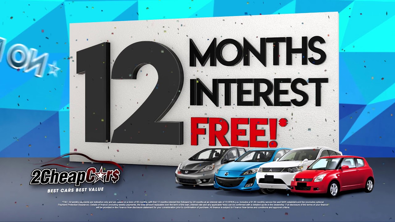 interest free deals on cars