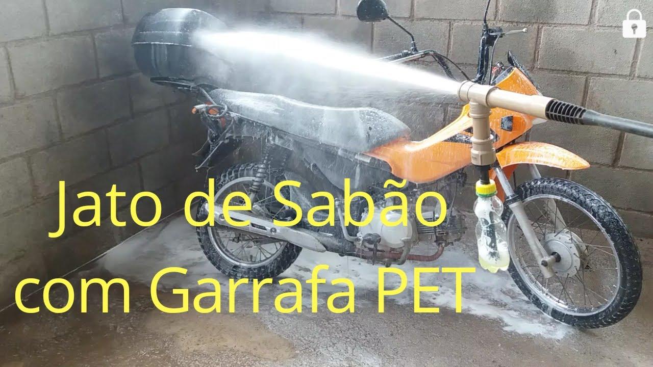 Como Fazer JATO DE SABÃO  lavar carro com garrafa pet