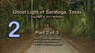Bragg Ghost Road Light Saratoga Texas 2 of 3 Infrared Test