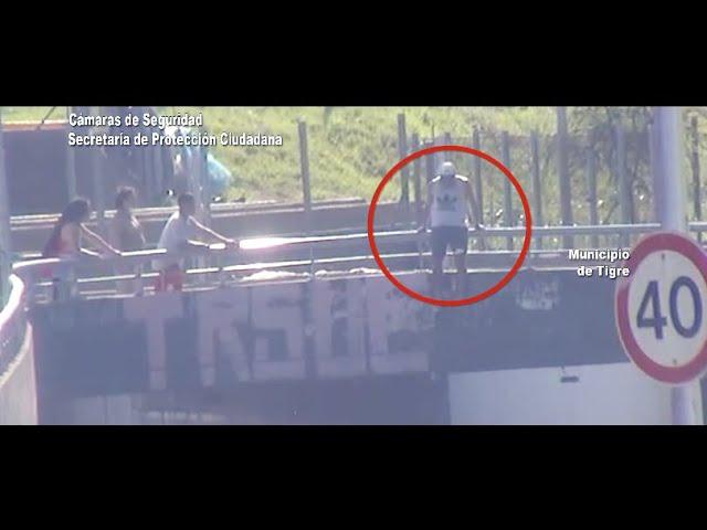 CINCO TV - Las cámaras del COT evitaron un intento de suicidio en Ricardo Rojas