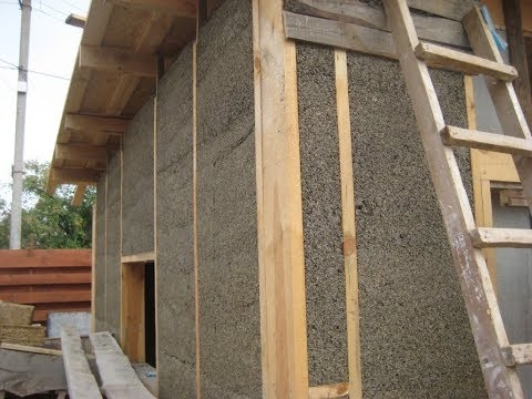 Технология строительства дома из конопли.