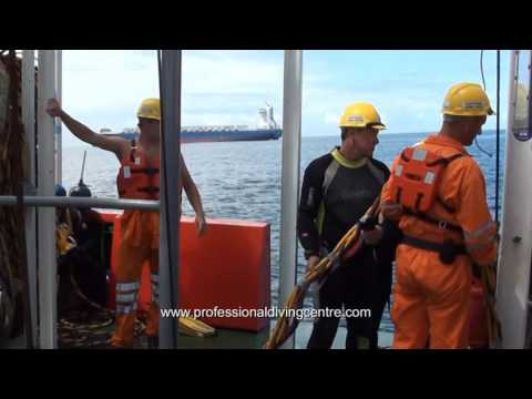Wet Bell Diving at Sea on Deepworx - PDC Commercial Diving School Durban