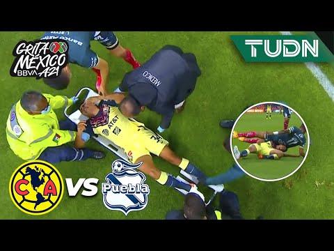 ¡TERRIBLE! Aparatosa lesión de Naveda   América 0-0 Puebla   Grita México BBVA AP2021 - J3   TUDN