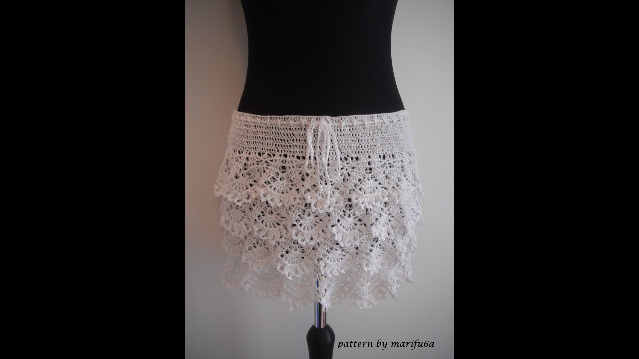 Crochet Patterns Tutorial : how to crochet ruffle skirt free pattern tutorial - YouTube