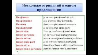 """Уроки французского #52: Все виды отрицания (2). Оборот """" ne...que """""""