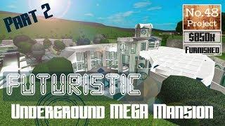 Roblox | BLOXBURG: Futuristic Underground Mega-Mansion [Speedbuild] [PART 2]