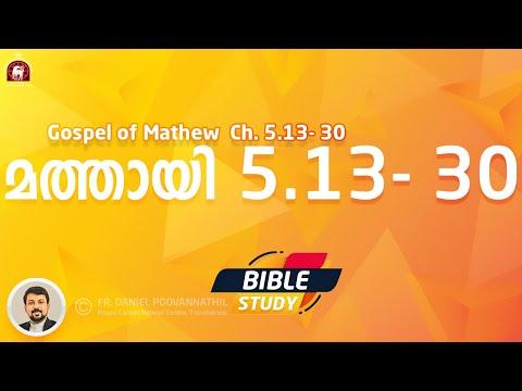 MATHEW 5: 13- 30. Bible Study. Fr. Daniel Poovannathil
