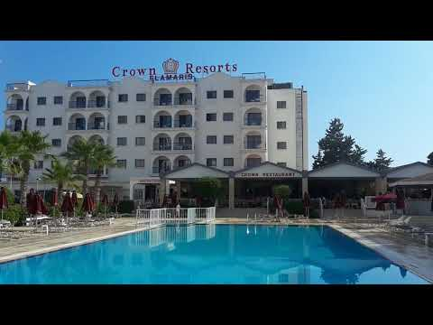 видео: КИПР 2019ОБЗОР. БАССЕЙН ОТЕЛЯ Crown Resorts Elamaris 3*. Протарас. Кипр.Канал ТУТСИ