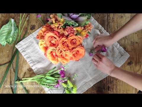How I arrange grocery store flowers (Jennifer's Mentionables)
