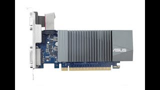 My ASUS Nvidia GeForce GT-710 GT710 SL 2GD5 2GB GDDR5 PCI Express Graphics Card Review
