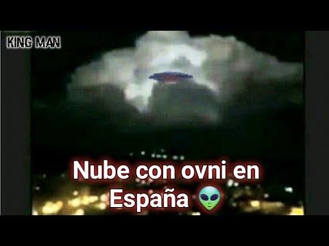 Inquietante Nube junto a un ovni grabada en España ?