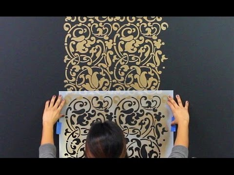 How To Repeat Stencil Designs On Accent Wall Using Registration Marks