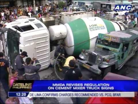 MMDA revises regulation on cement mixer truck signages