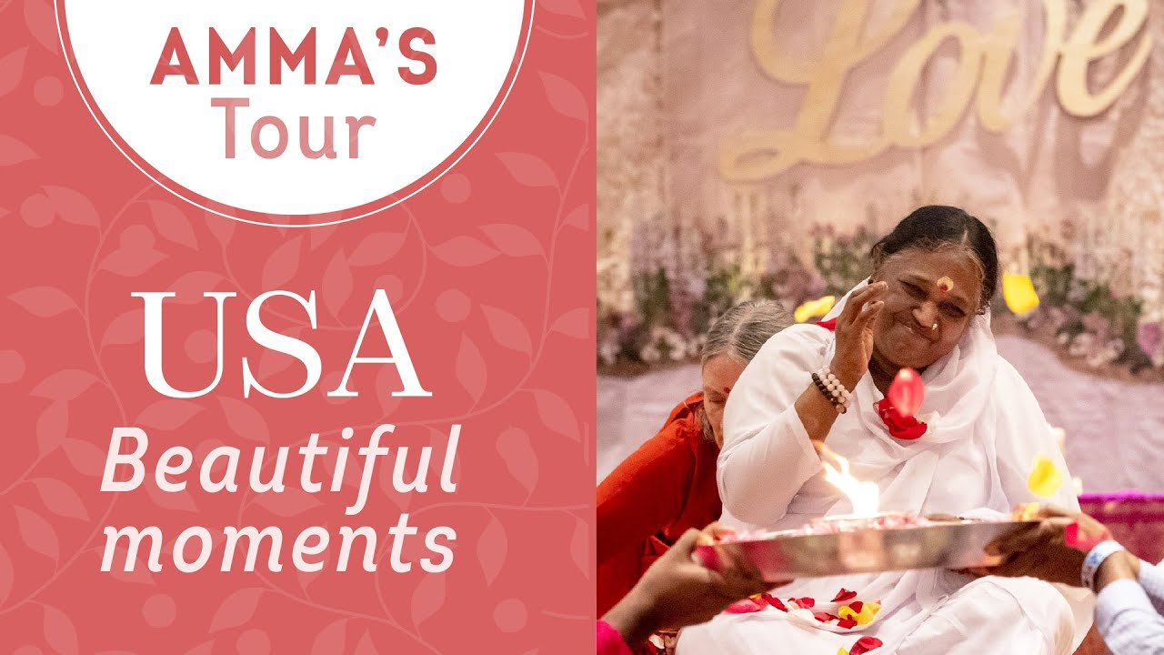 Download Beautiful moments from Amma's  USA Yatra 2019