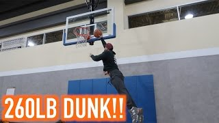 VLOG 3 | SWOLOPOLY | BROSCIENCE | DUNK at 260LBS!!!