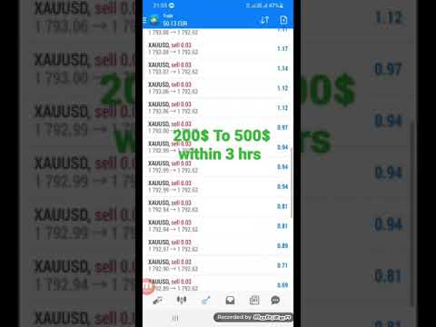 Forex Live Trade On Gold 200$ To 500$ Within 3 hrs 150% Earn📉📈📊