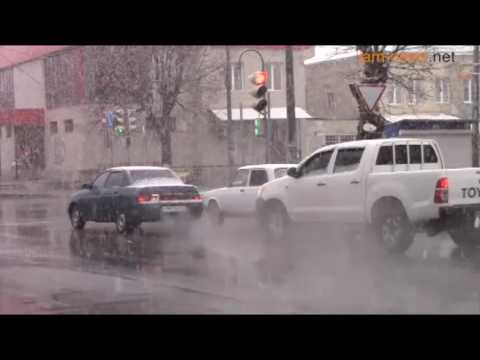 South Ossetia election day snow, 9 April 2017