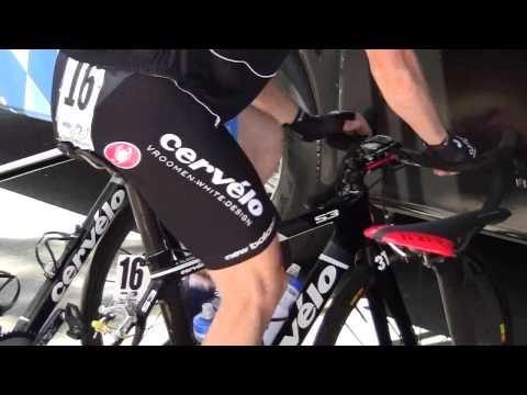 Andrew Talansky Warming Up For Stage 6 TT