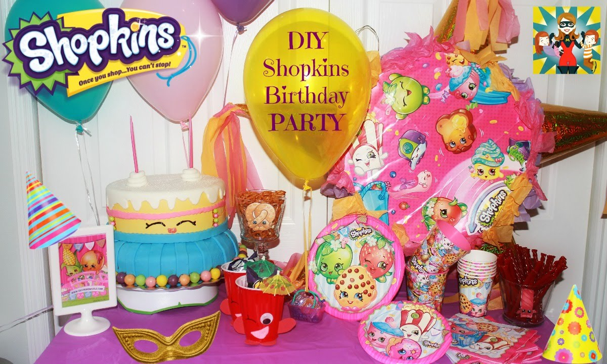 SHOPKINS PARTY DIY ideas Centerpieces goodies bags and more