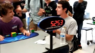 3x3 Rubik's Cube WORLD RECORD 5.25s COLLIN BURNS
