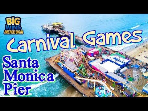 Carnival Games at Santa Monica Pier!!! - Big Wins! Arcade Show