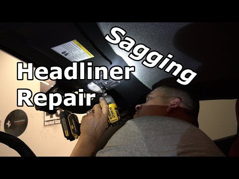 Ferrari 458 Italia SAGGING HEADLINER repair by Just Like New Interior