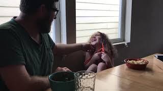 Arya gets a tickle