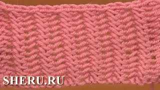 Knitting Stitch Pattern For Beginners  Урок 20 Простой узор спицами