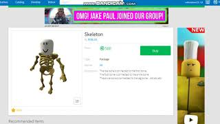 Buying the skeleton package roblox