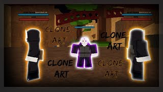 SHADOW CLONE ART | SHINOBI ORIGIN | ROBLOX