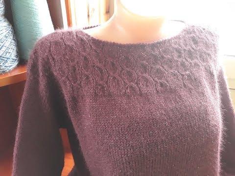 Джемпер. Комбинированное вязание. Часть 3. Фотоальбом.