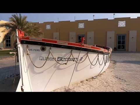 Life Boats of Queen Elizabeth 2 Cruise Ship at Port Rashid Dubai 10.11.2017