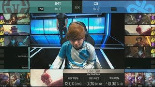 [EPIC] Immortals (Wildturtle Kalista) VS C9 (Sneaky Jhin) Highlights - 2016 NA LCS Spring W5D2