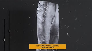 DEWBU Heated Pants for Men with Battery Outdoor Winter Work Trousers for Hiking