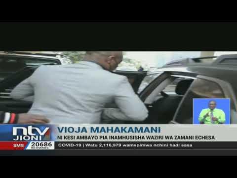 Vioja Mahakamani: Mshukiwa mwenza wa Rashid Echesa akamatwa