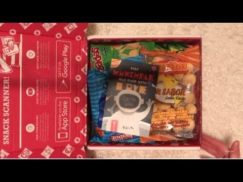 Munchpak Unboxing & Tasting (Crinkly sounds) ~ ASMR Relaxing Eating Sounds