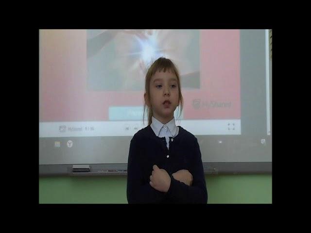 Изображение предпросмотра прочтения – ВалерияБуренина читает произведение «Несу добро в ладошках!» О.В.Фокиной