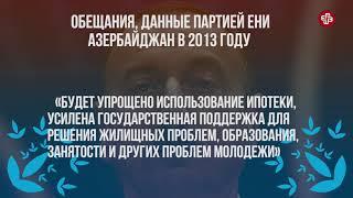 Как выполнил Ильхам Алиев обещания, данные в 2013 году?