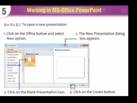 Computer Lesson 109 -   Creating A Blank Presentation