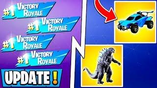 *NEW* Fortnite Update! | Free Wins Glitch, Unlimited XP, 2 Events w/ Rewards!