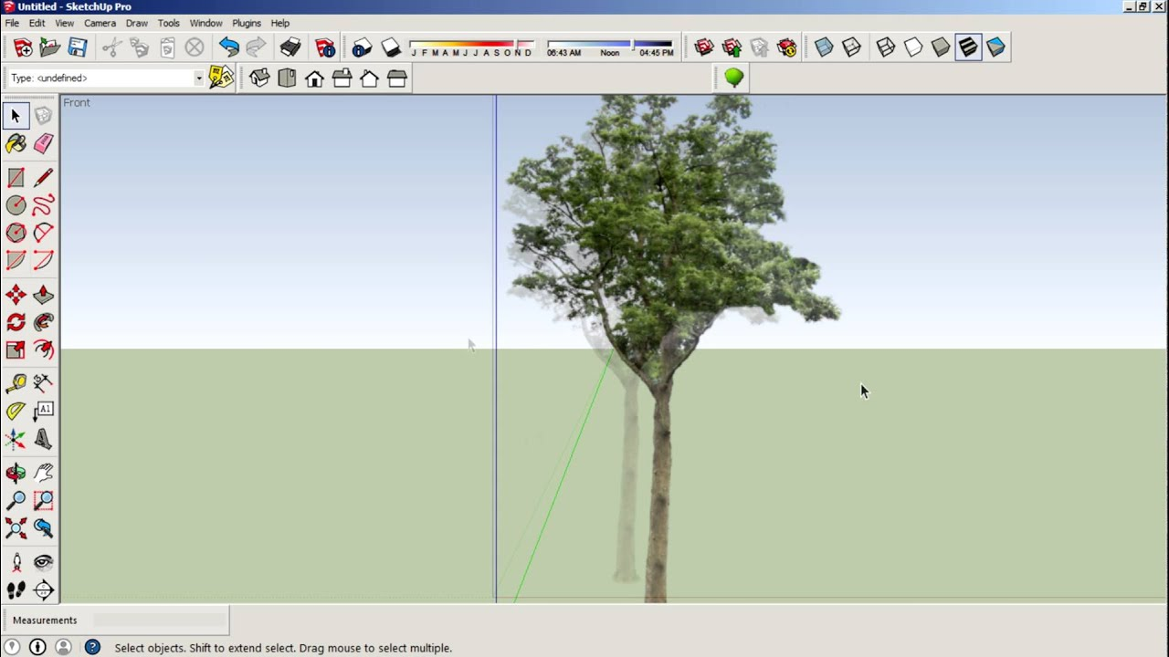 How To Create Trees Using Faceme components In Sketchup