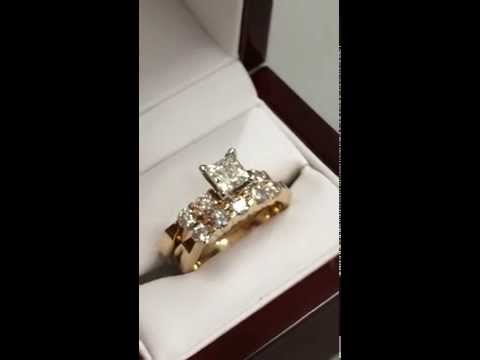 KAY JEWELERS- 1ct. Princess Cut 14k Wedding Set w/ Papers & Warranty!