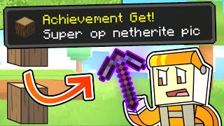 minecraft manhunt but ACHIEVEMENTS GIVE OP ITEMS