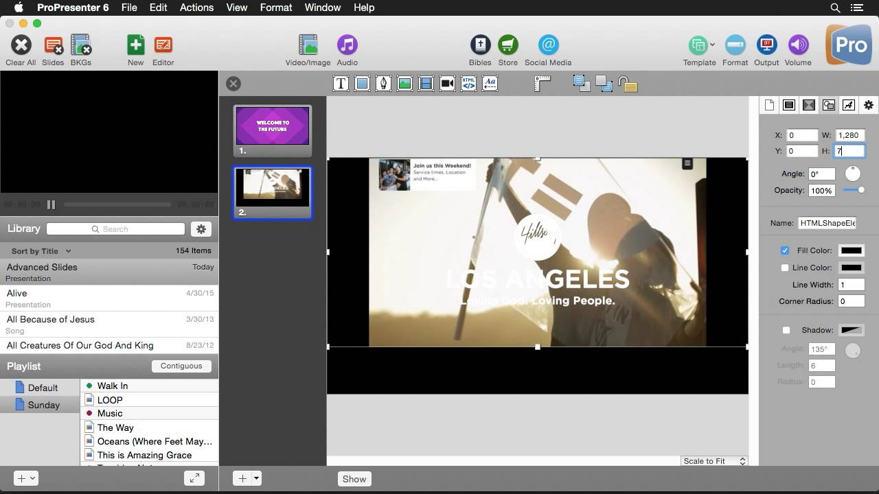 Edit Slides in ProPresenter Using the Advanced Slide Editor
