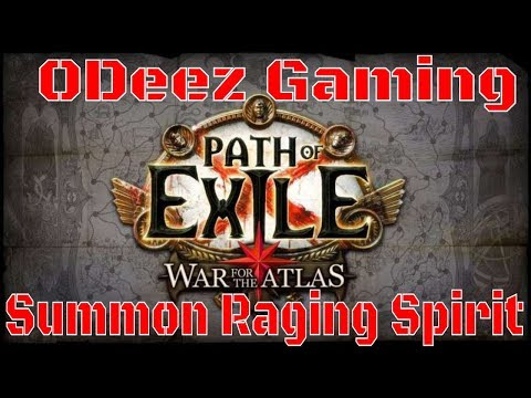 Path of Exile 3.1 - Summon Raging Spirit - Be a Maverick - Let's Play