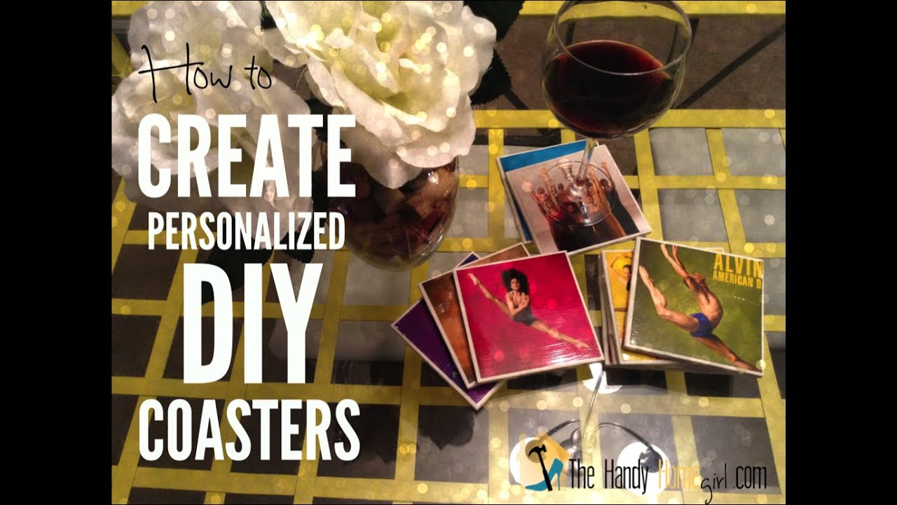 How To Create Personalized DIY Coasters YouTube - Create coasters from photos