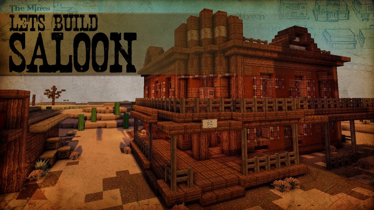 Let 39 s build western 7 saloon minecraft speedbuilding for Salon western