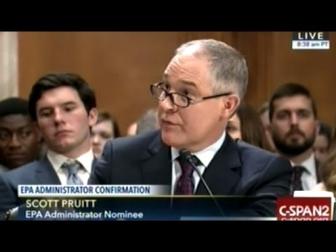 Round #1 Of EPA Head's Confirmation Hearing Becomes Climate Change Revival For The Democrats
