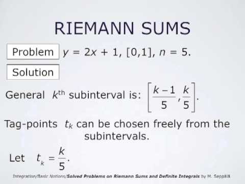 Solved Problems On Riemann Sums Youtube